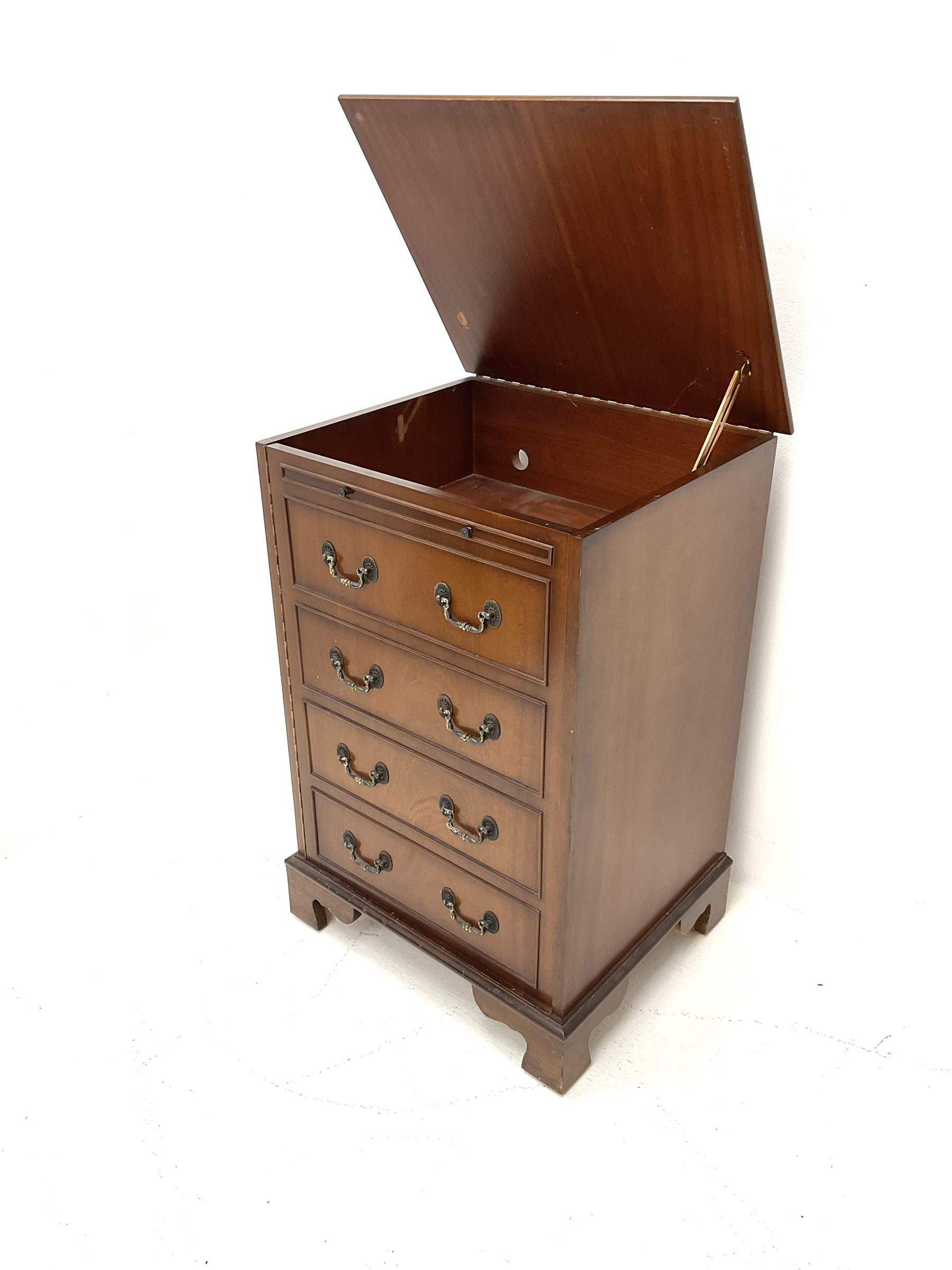 Georgian style mahogany music cabinet - Image 2 of 3