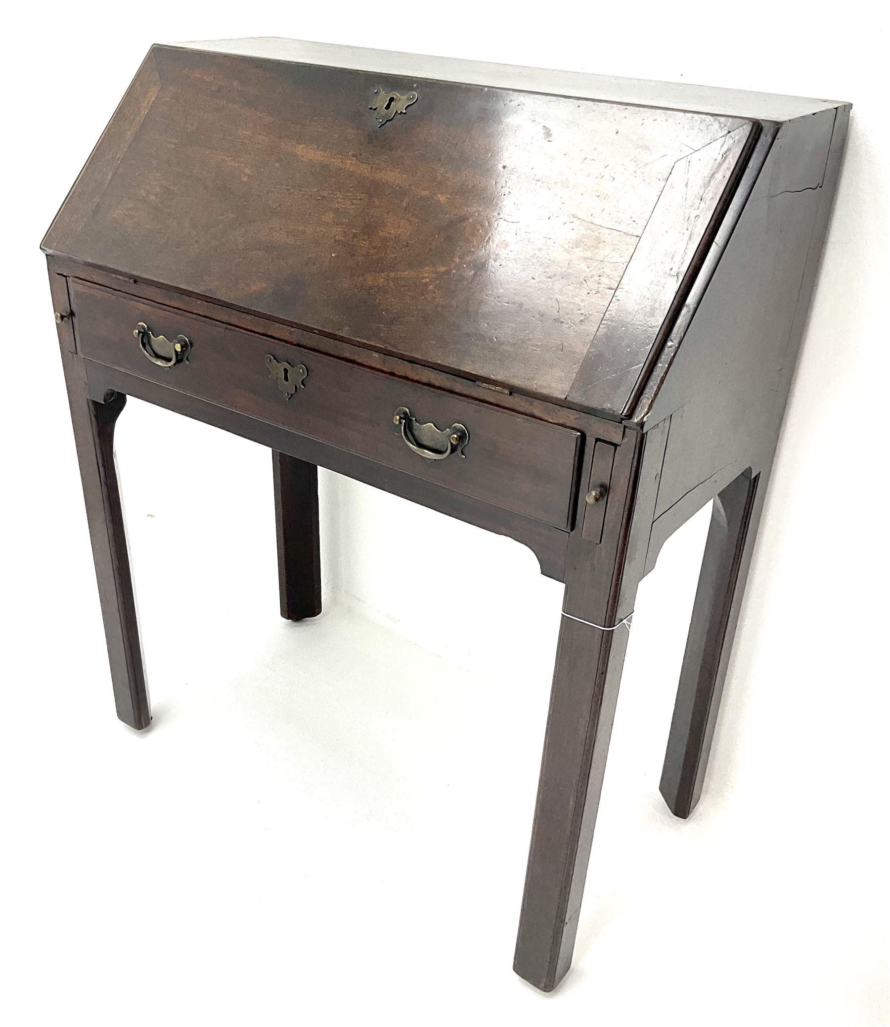 George III mahogany bureau - Image 2 of 5