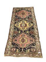 Turkish design blue and beige ground rug