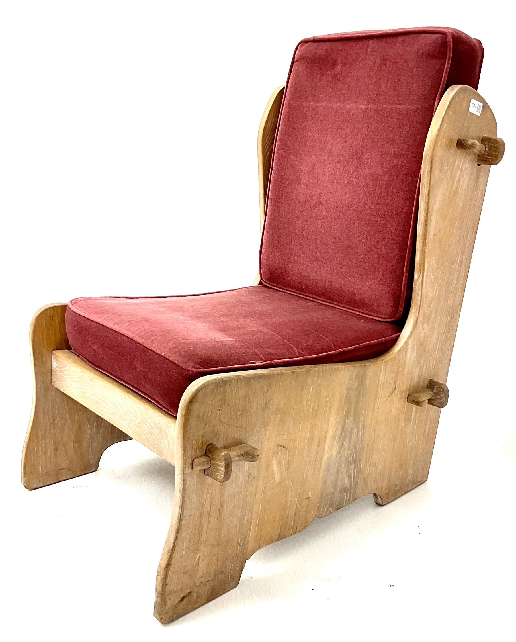 20th century oak chair - Image 2 of 2