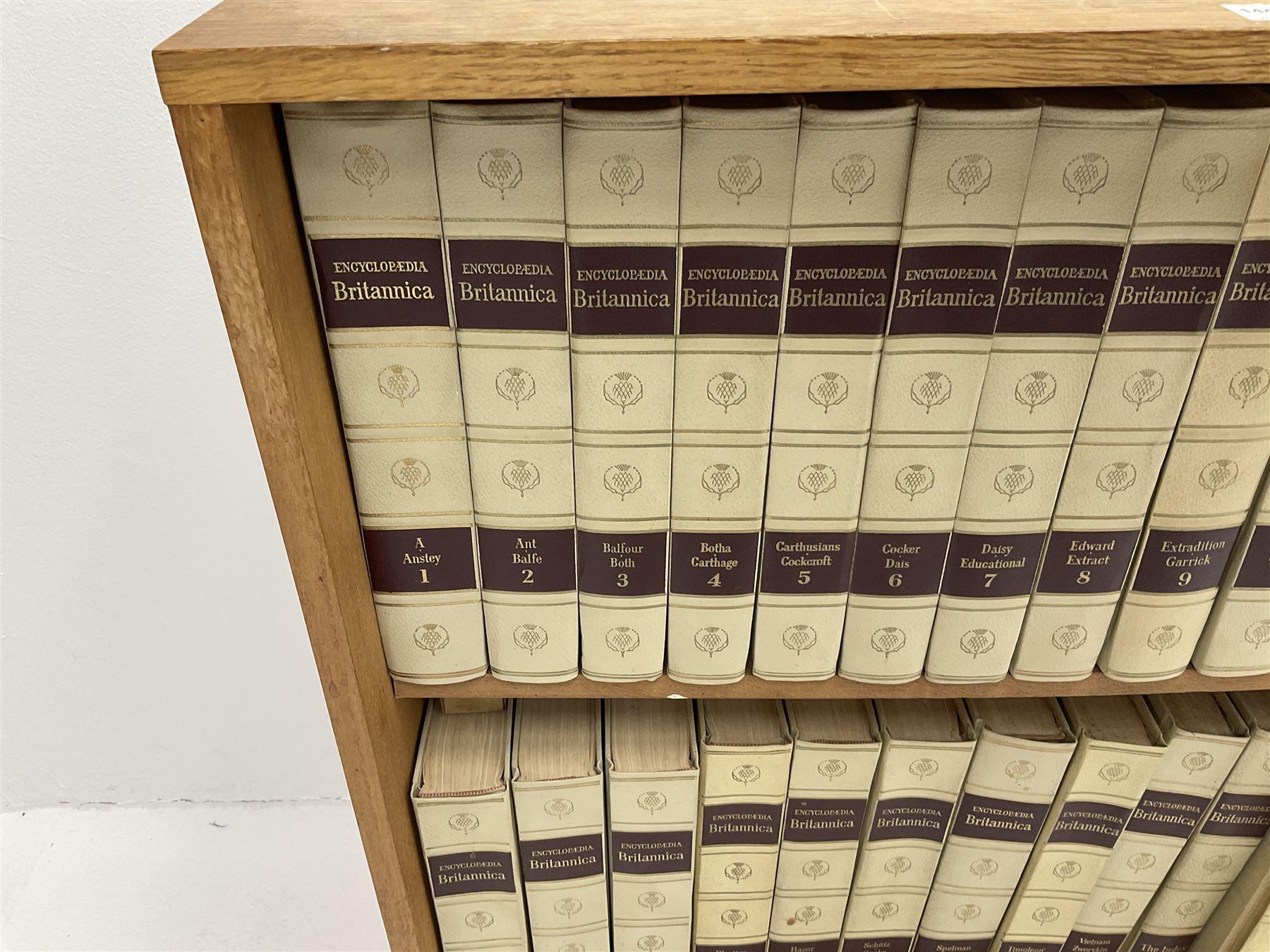 Light oak bookcase with Encylopedia Britania - Image 3 of 3
