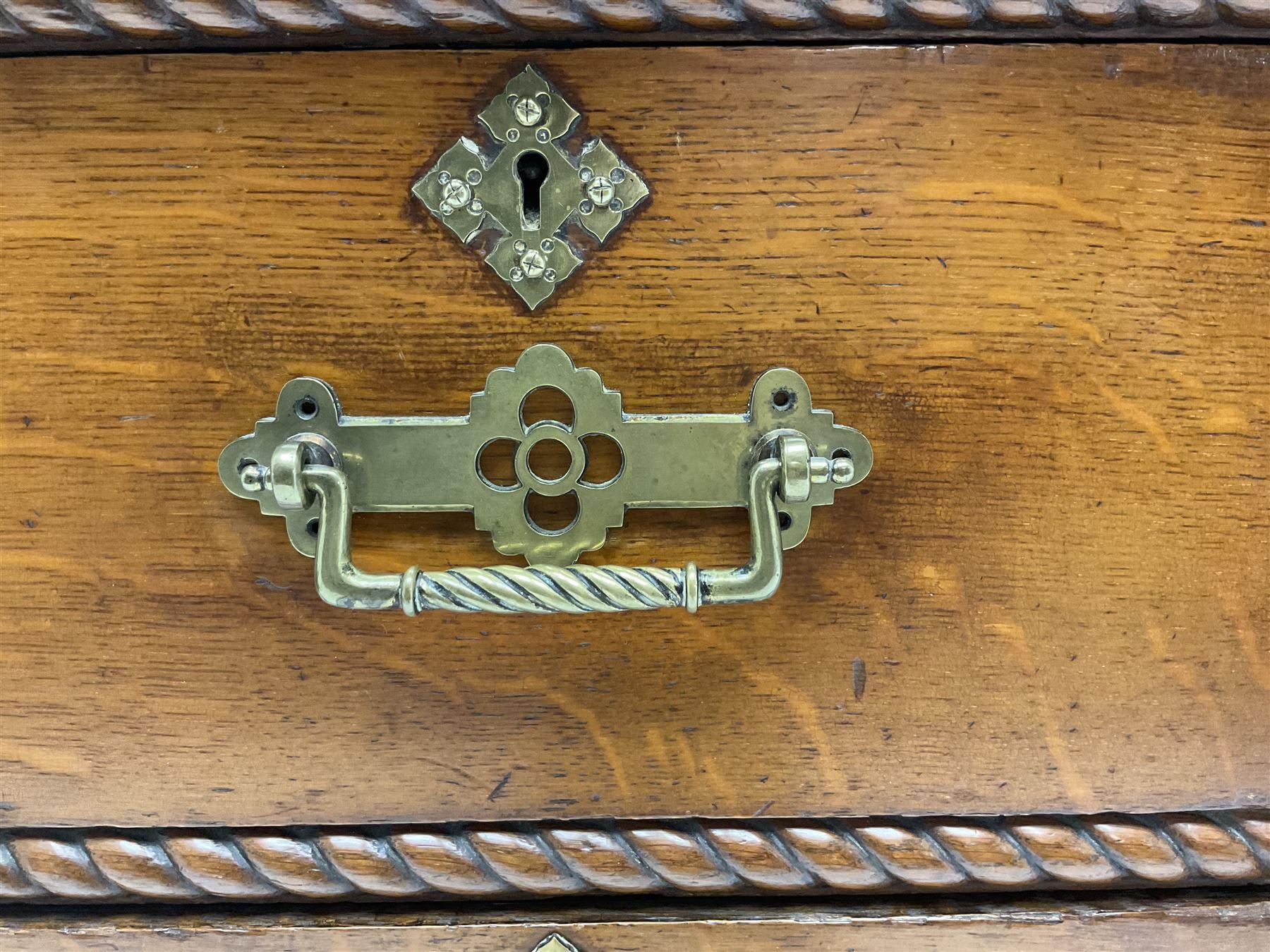 Victorian aesthetic oak movement desk - Image 4 of 7