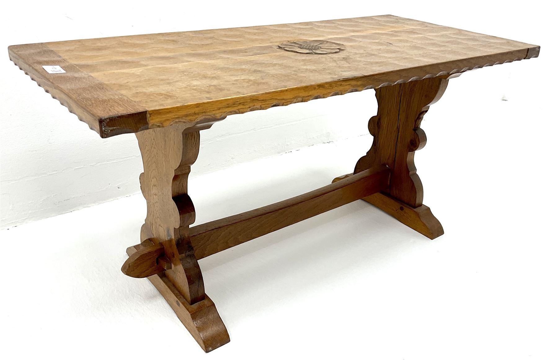 Yorkshire oak rectangular coffee table - Image 5 of 6