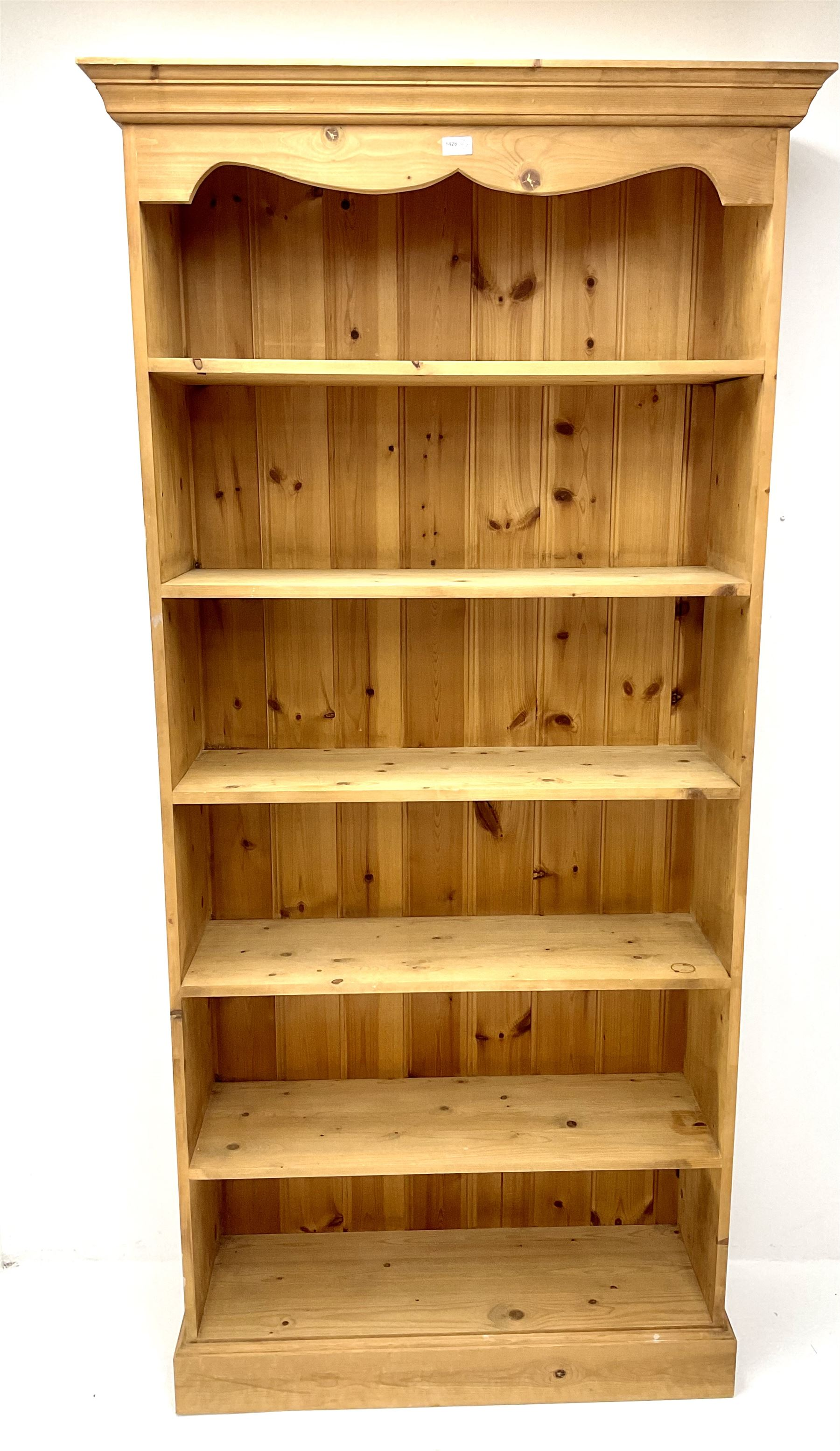 Pine open bookcase - Image 2 of 3