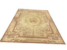 Axminster beige ground rug
