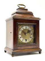 Late 20th century mahogany case bracket time-piece clock