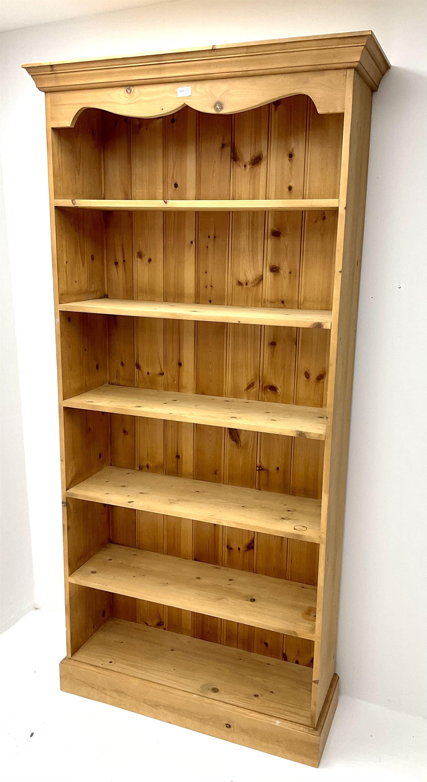 Pine open bookcase