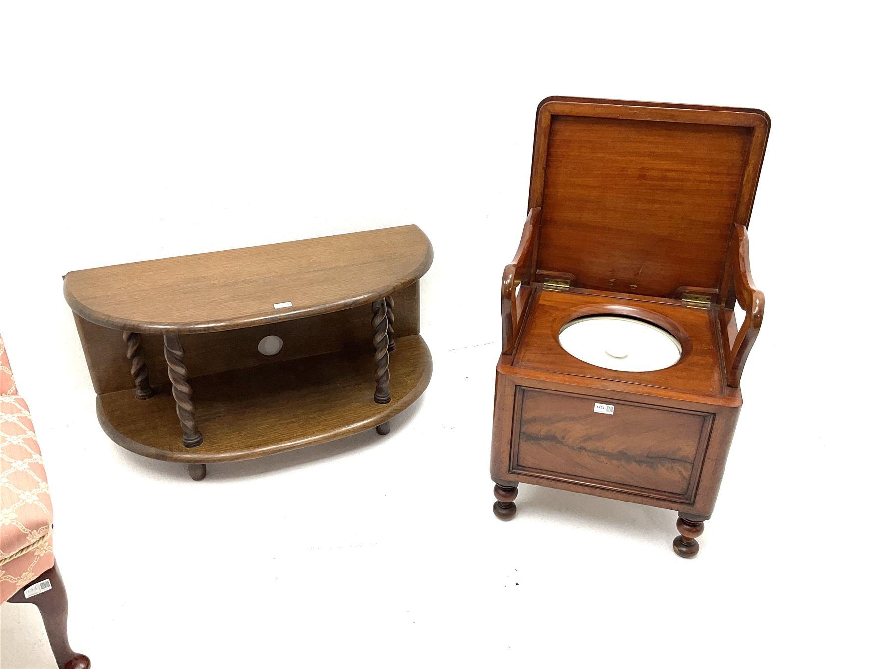 Victorian mahogany pot cupboard - Image 3 of 3