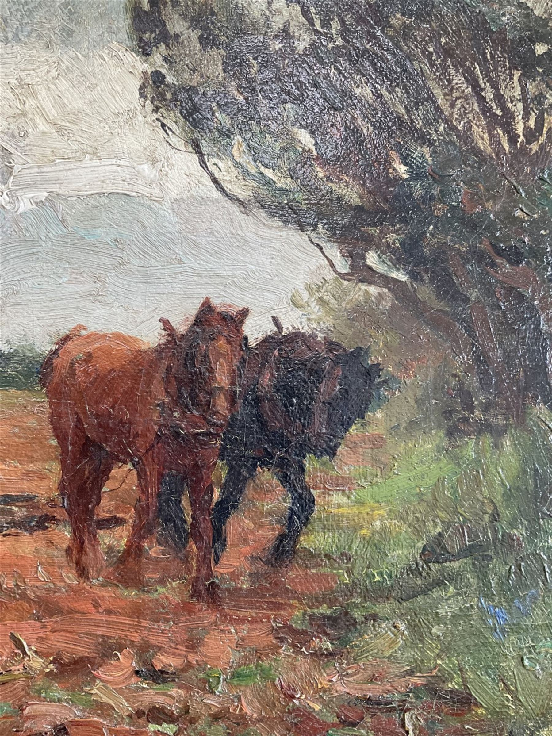 William Cave Day (British 1862-1924): Ploughing - Image 5 of 6
