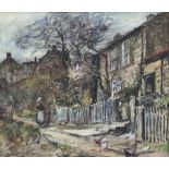 Rowland Henry Hill (Staithes Group 1873-1952): Cottages at Runswick Bay