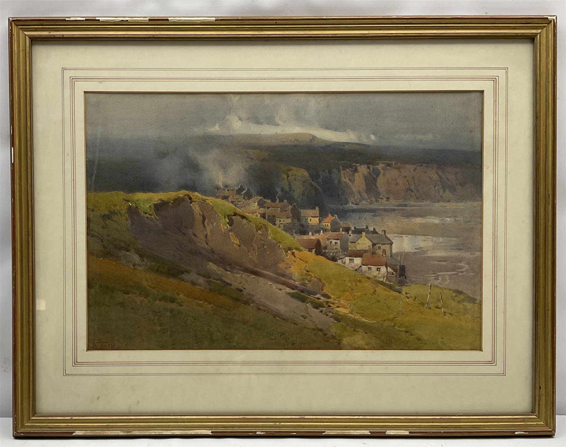 Arthur Tucker R.B.A. (British 1864-1929): Robin Hoods Bay - Image 2 of 4