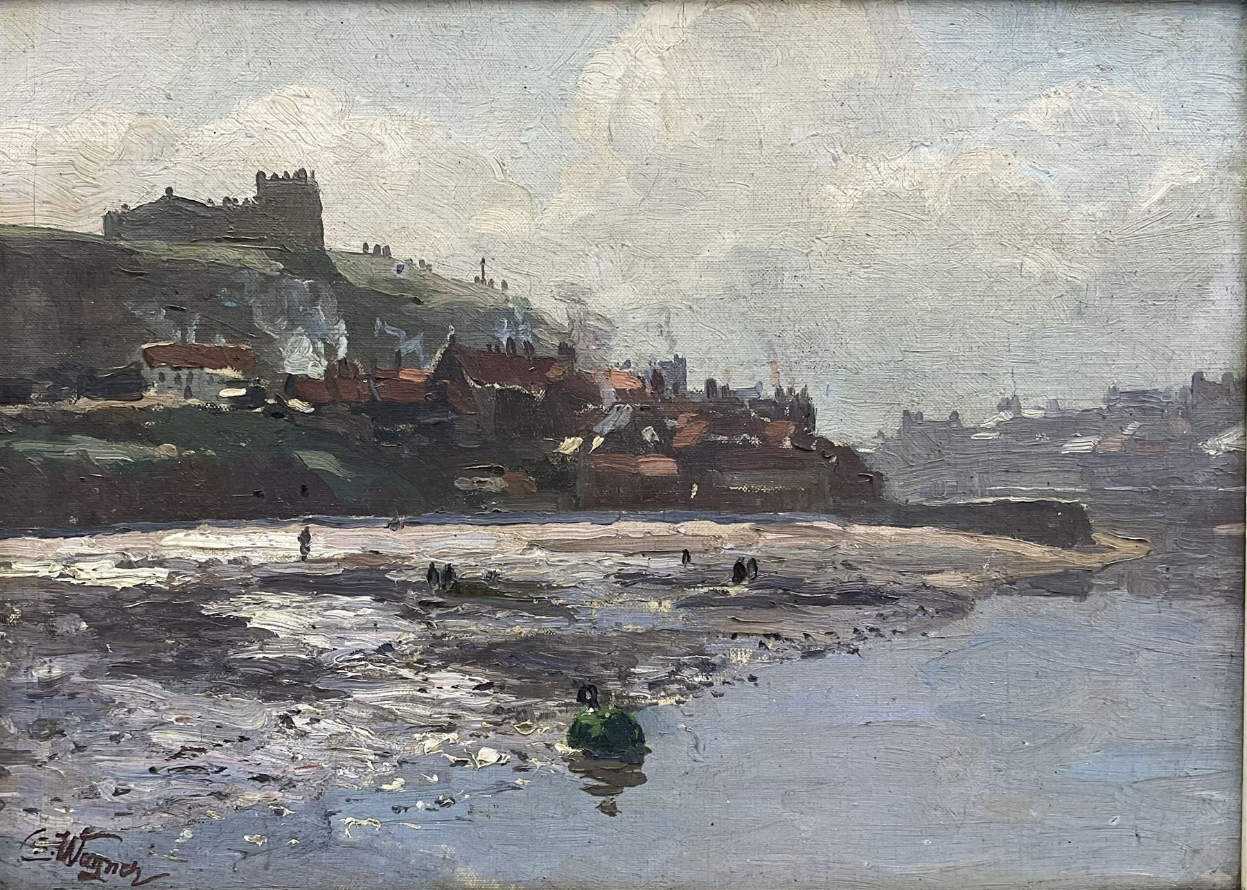 Cornelius Wagner (German 1870-1956): Tate Hill Sands and East Cliff Whitby