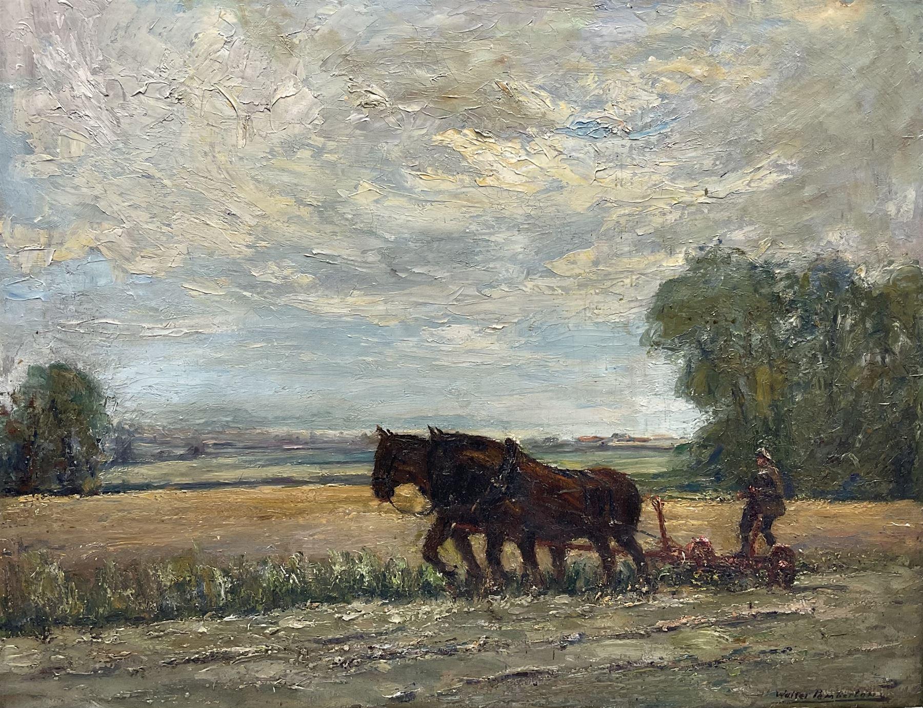 Walter Pemberton (British exh.1911-1921): Working Horses