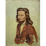 Cecil Rochfort D'Oyly-John (British 1906-1993): 'Dorothy May Chedzoy' - half length portrait