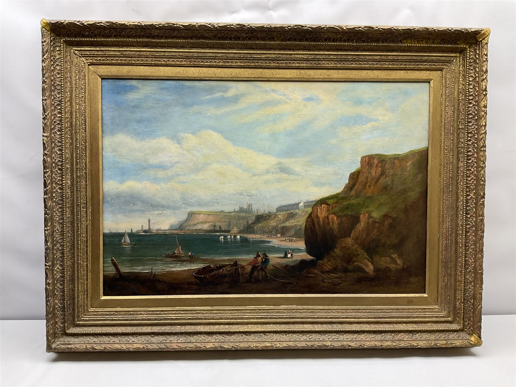 George Chambers Jnr. (British 1830-1868): Whitby from Upgang - Image 2 of 4