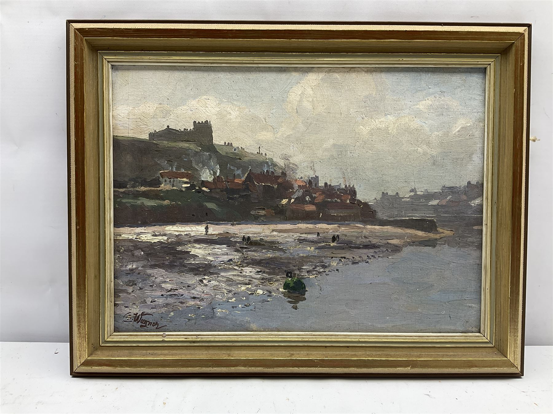 Cornelius Wagner (German 1870-1956): Tate Hill Sands and East Cliff Whitby - Image 3 of 4