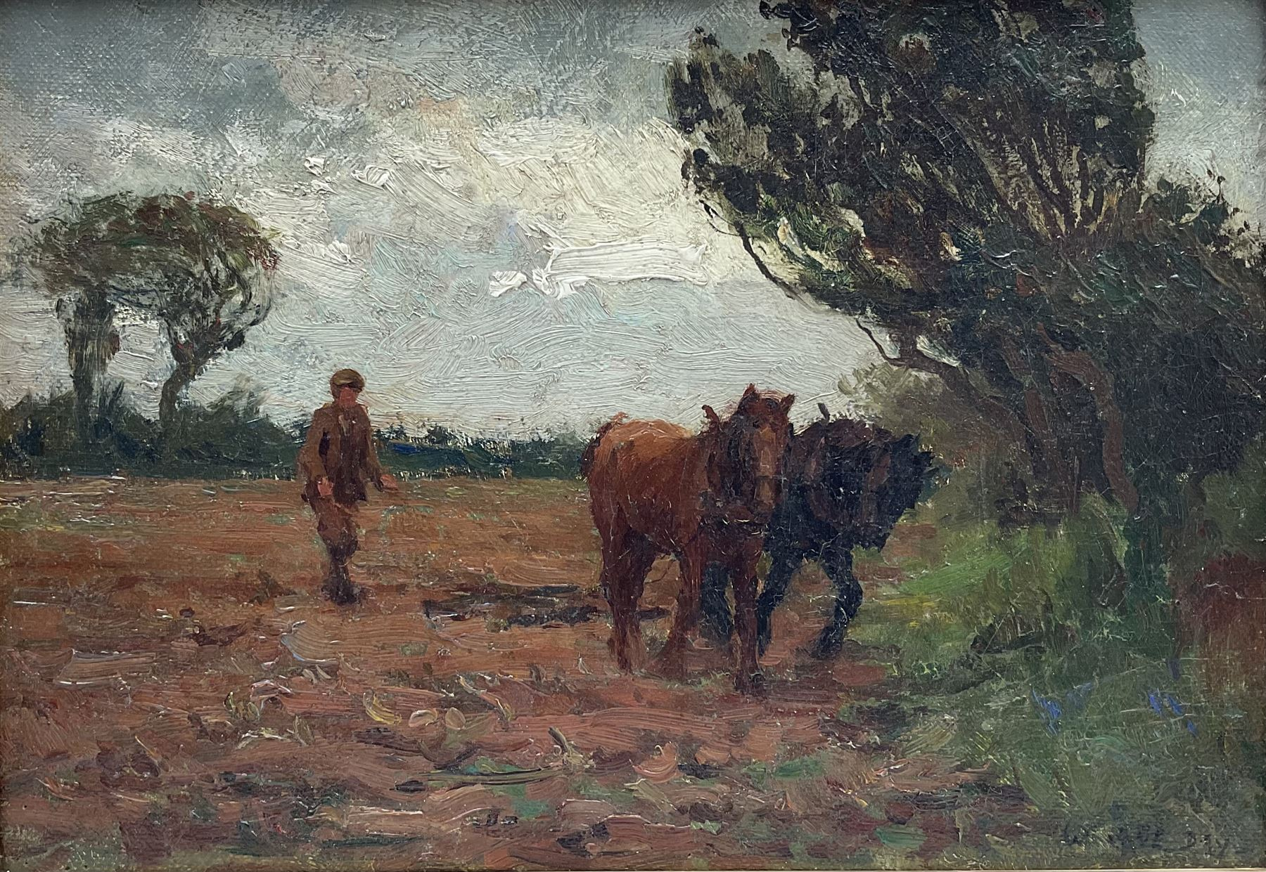 William Cave Day (British 1862-1924): Ploughing