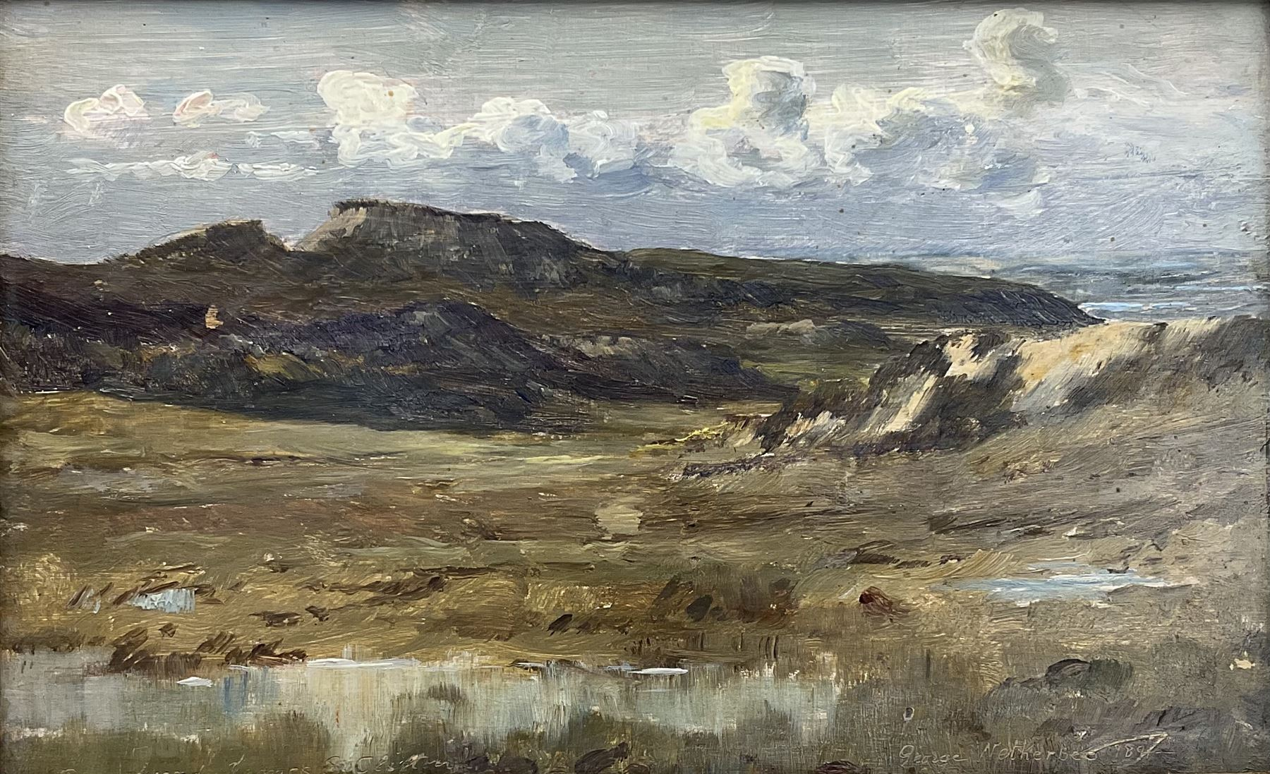 George Faulkner Wetherbee RI ROI (American 1851-1920): Upland Landscape