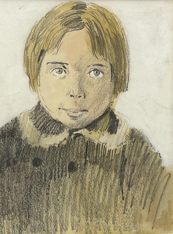 Donald McIntyre (British 1923-2009): 'Blond Boy Wearing Coat'