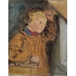 William Henry Hunt (British 1790-1864): Portrait of a Farm Boy