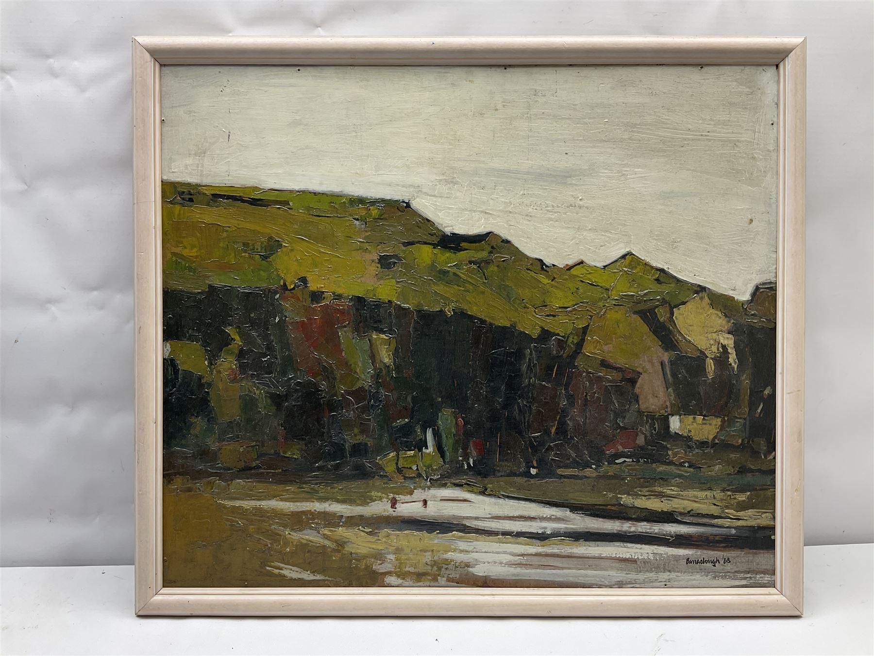 Attrib. Peter Barraclough (Northern British 1939-): Dark Cliffs - Image 2 of 4