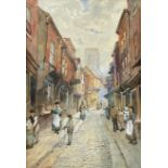 Frank Rousse (British fl.1897-1917): Low Petergate York