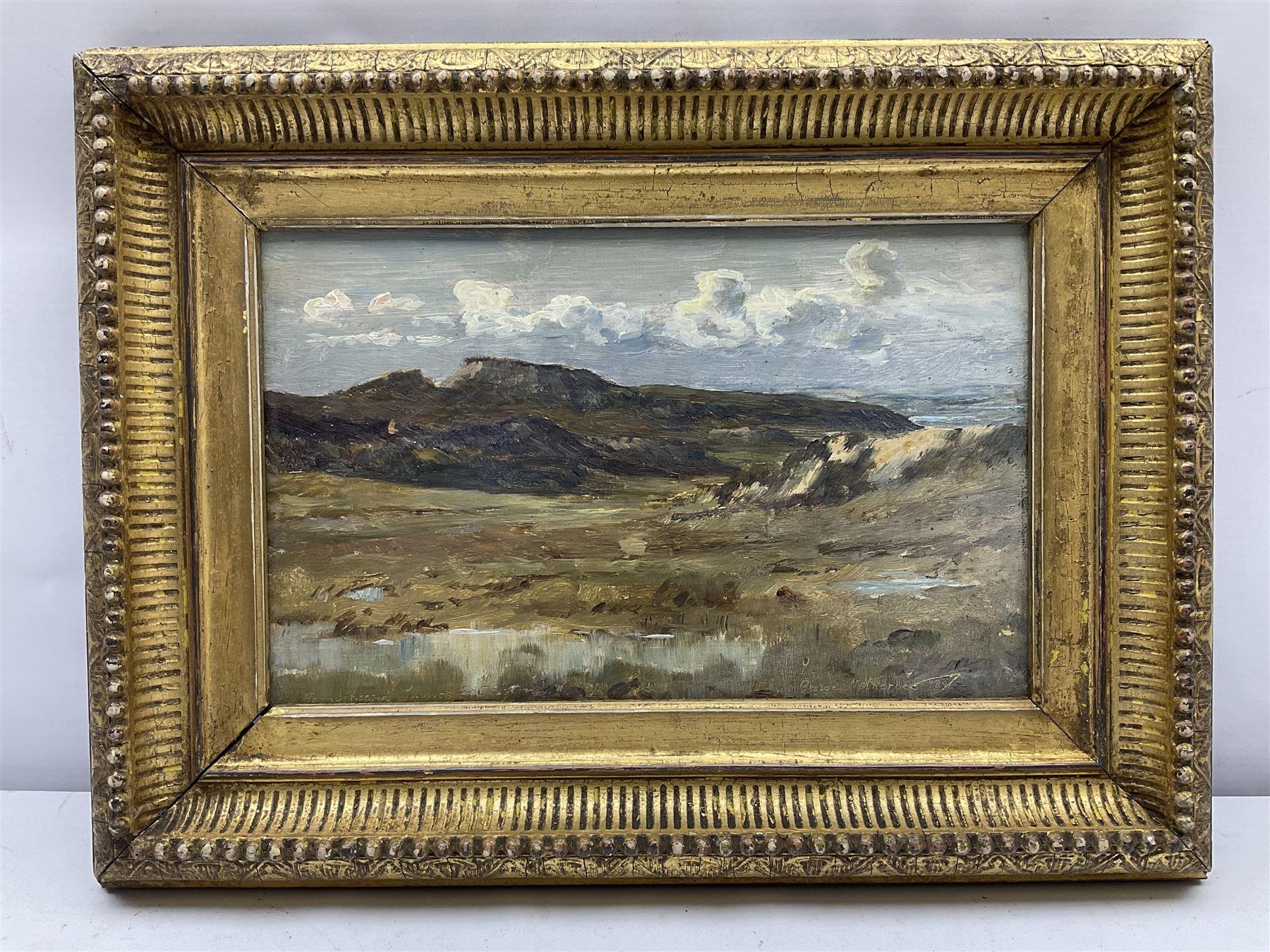 George Faulkner Wetherbee RI ROI (American 1851-1920): Upland Landscape - Image 2 of 5