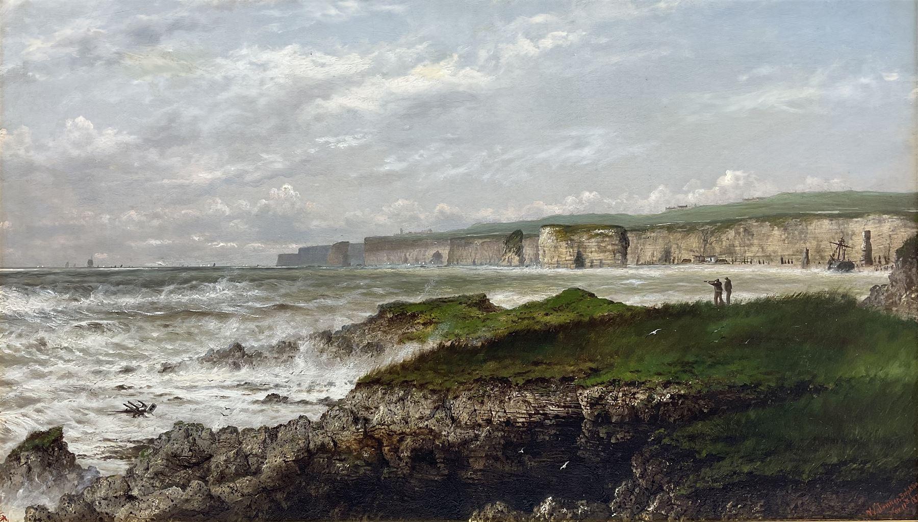 Isaac Walter Jenner (British 1836-1902): Bempton Cliffs and Flamborough Head