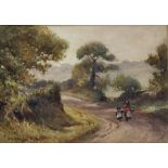 Albert George Stevens (Staithes Group 1863-1925): North Yorkshire Country Lane