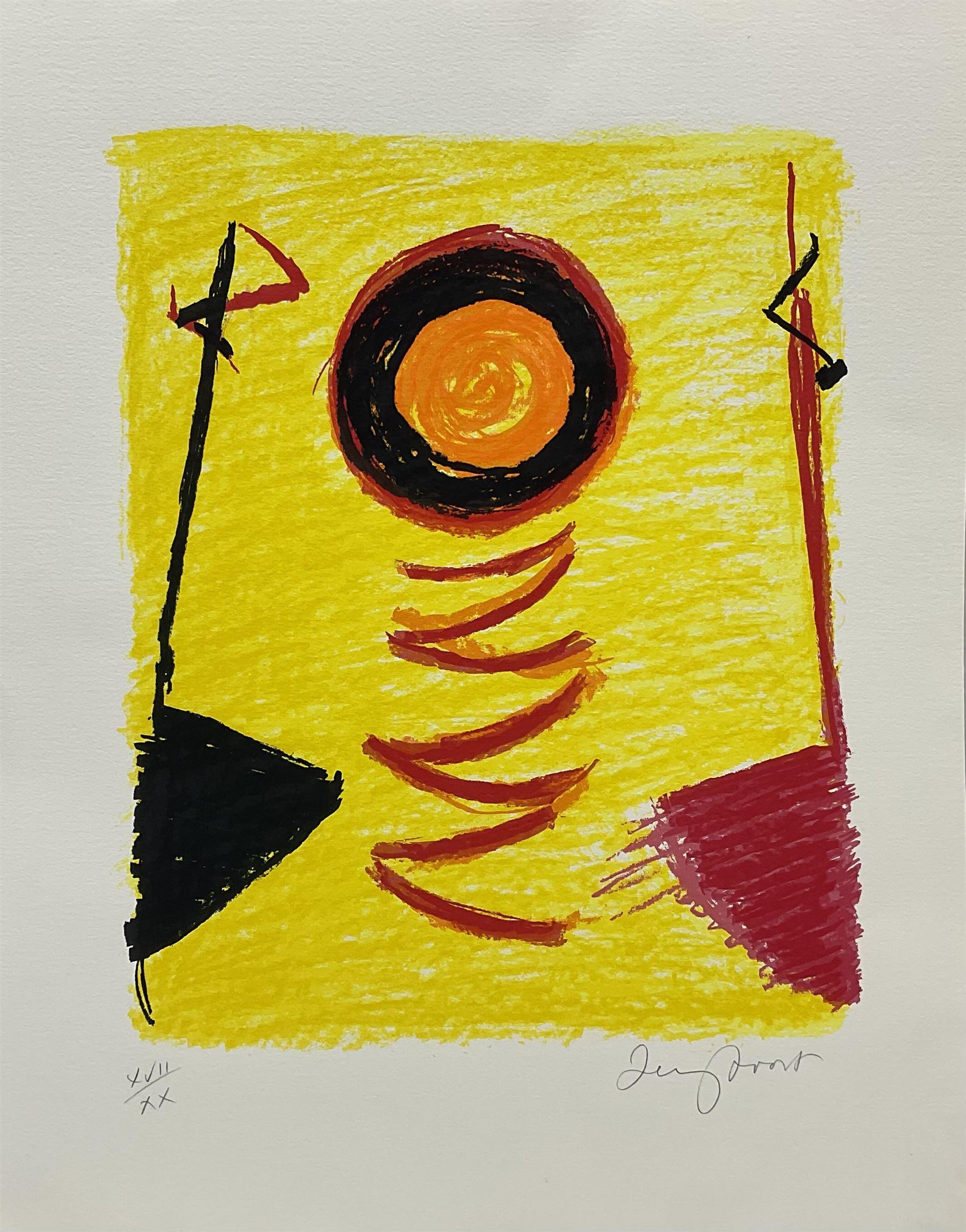 Sir Terry Frost RA (British 1915-2003): 'Orange Sun Newlyn' (Kemp 206)
