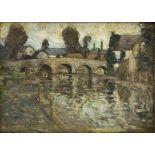 George Grosvenor Thomas RSW (Scottish 1856-1923): Arched Stone Bridge