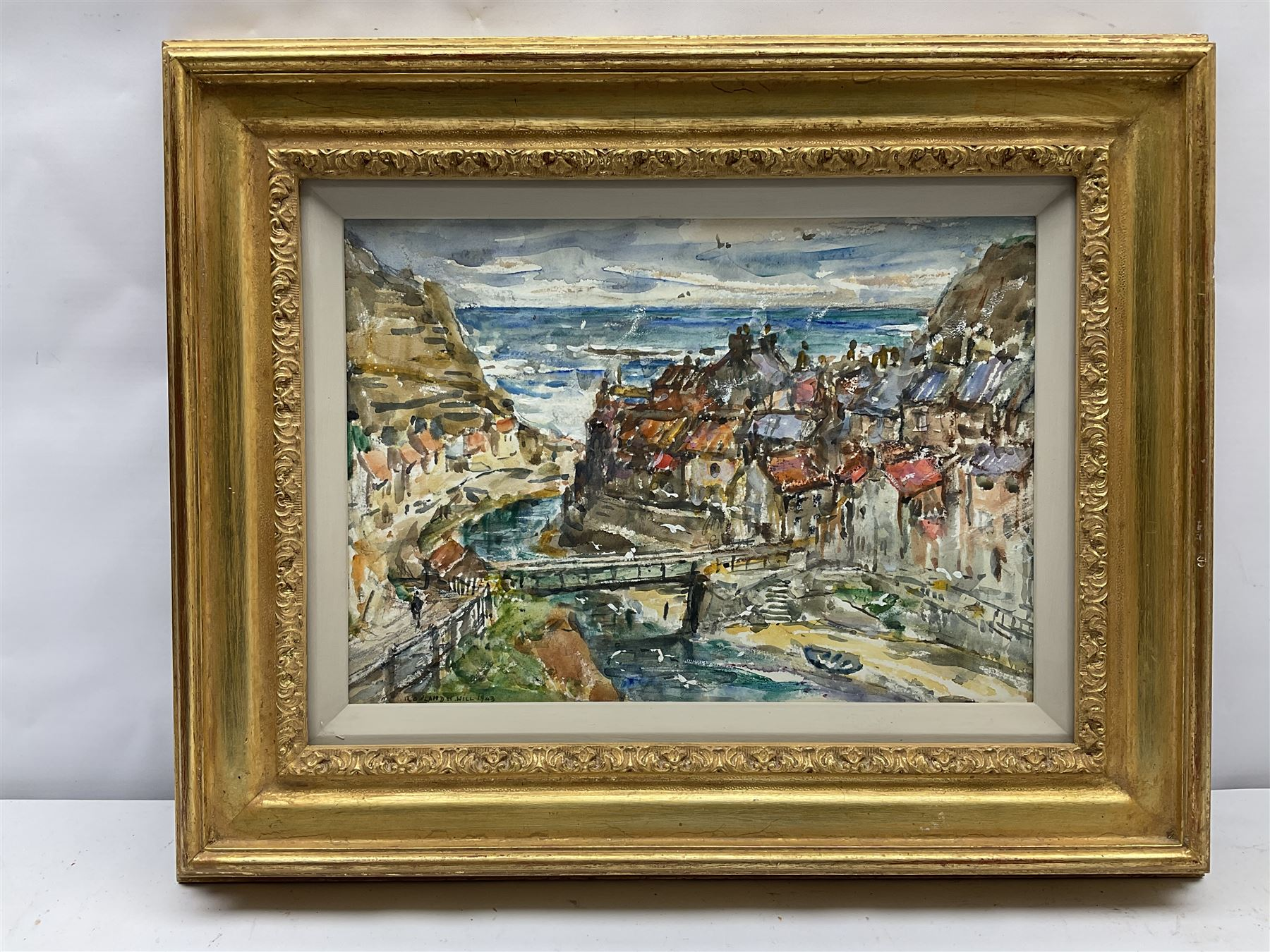 Rowland Henry Hill (Staithes Group 1873-1952): Staithes Beck and Village - Image 2 of 4