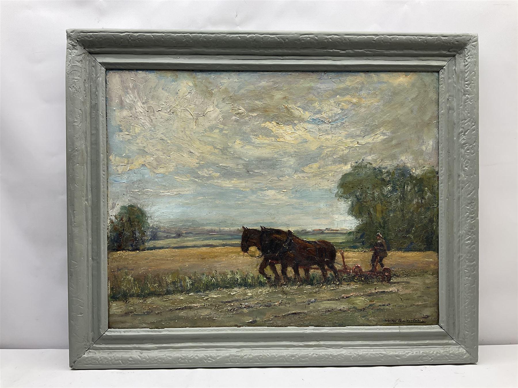 Walter Pemberton (British exh.1911-1921): Working Horses - Image 2 of 4
