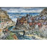 Rowland Henry Hill (Staithes Group 1873-1952): Staithes Beck and Village