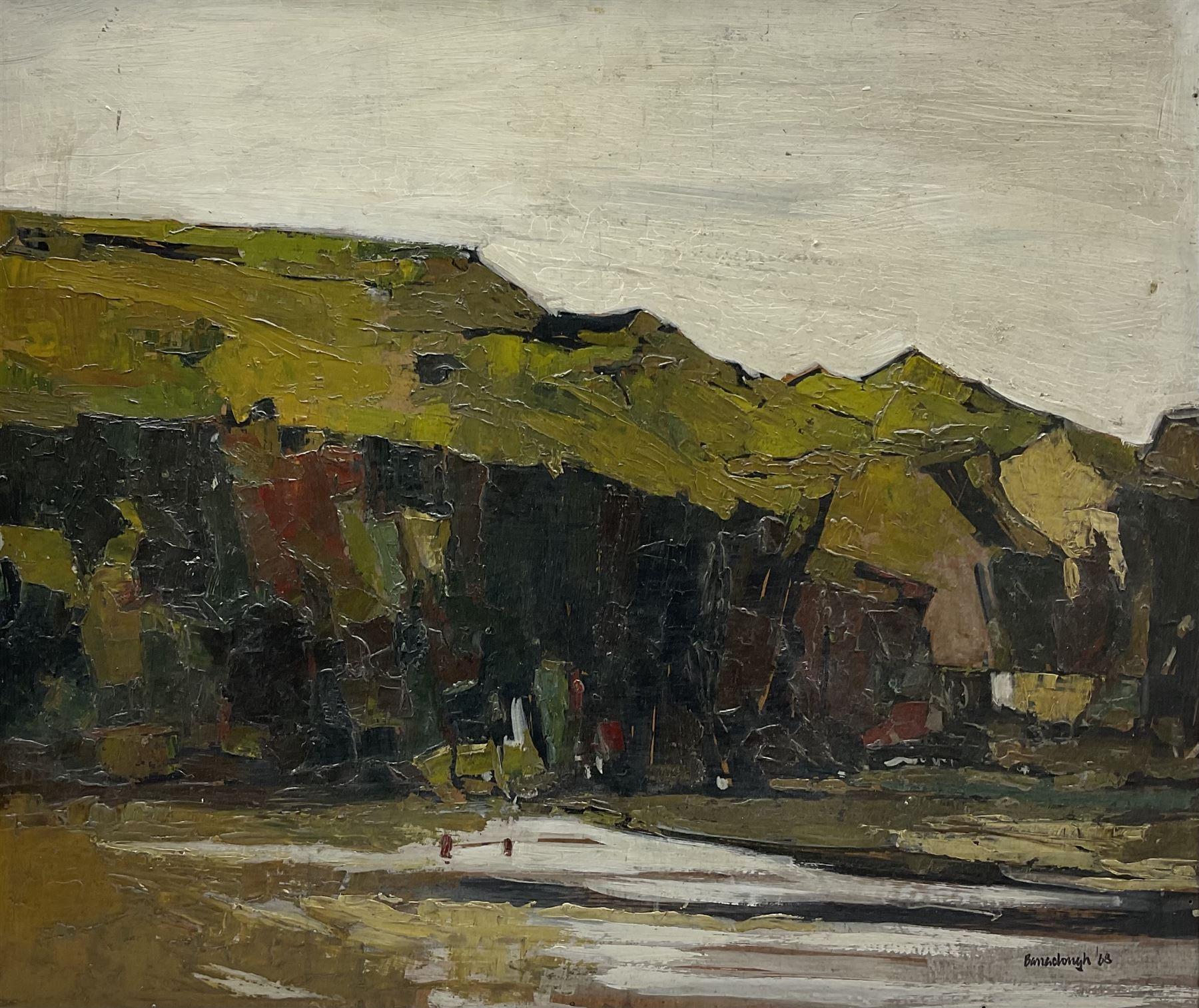 Attrib. Peter Barraclough (Northern British 1939-): Dark Cliffs
