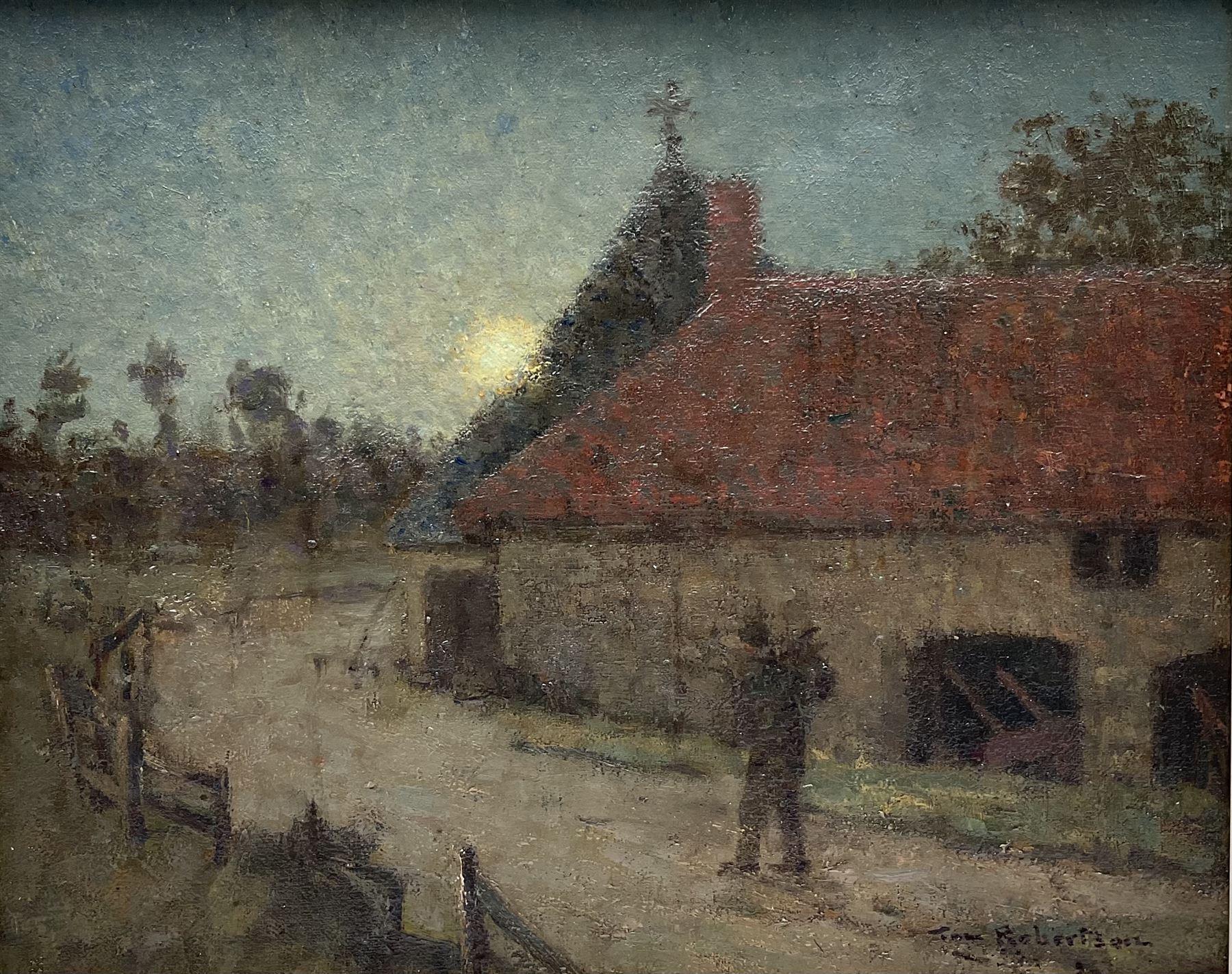 Tom Robertson (Scottish 1850-1947): 'On The Tramp'