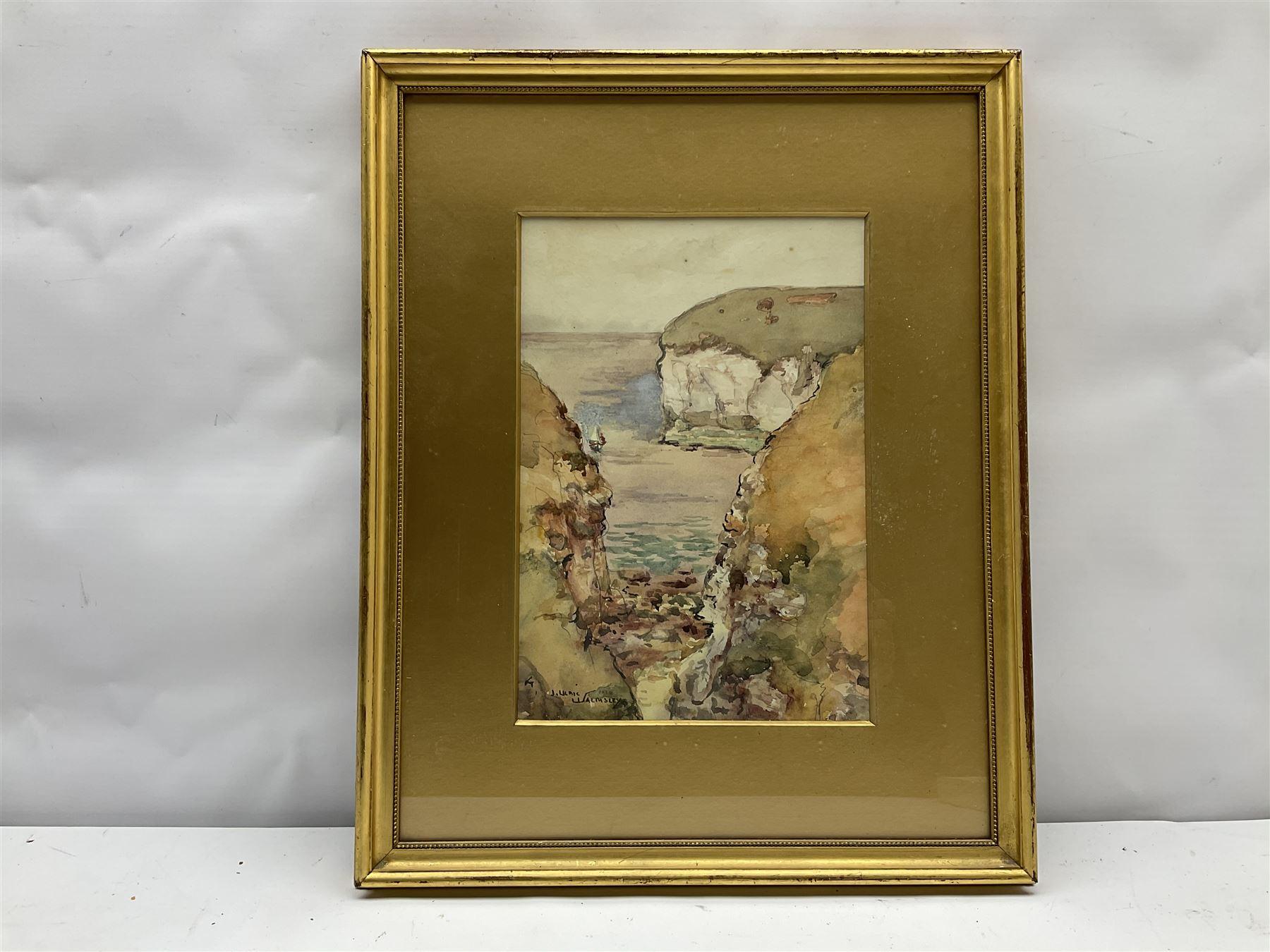 James Ulric Walmsley (British 1860-1954): Cliffs at Flamborough Head - Image 3 of 4