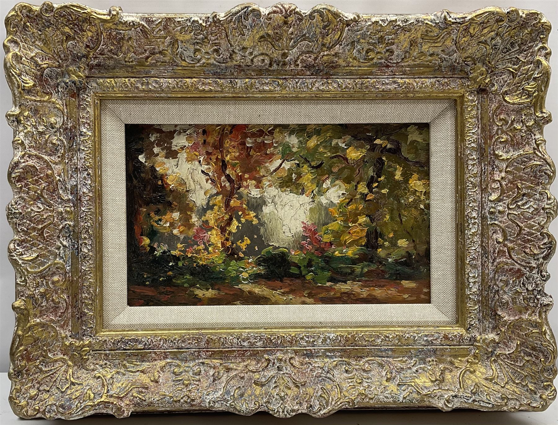Attrib. James W Ferguson (Scottish 1916-1963): Wooded Garden - Image 2 of 3