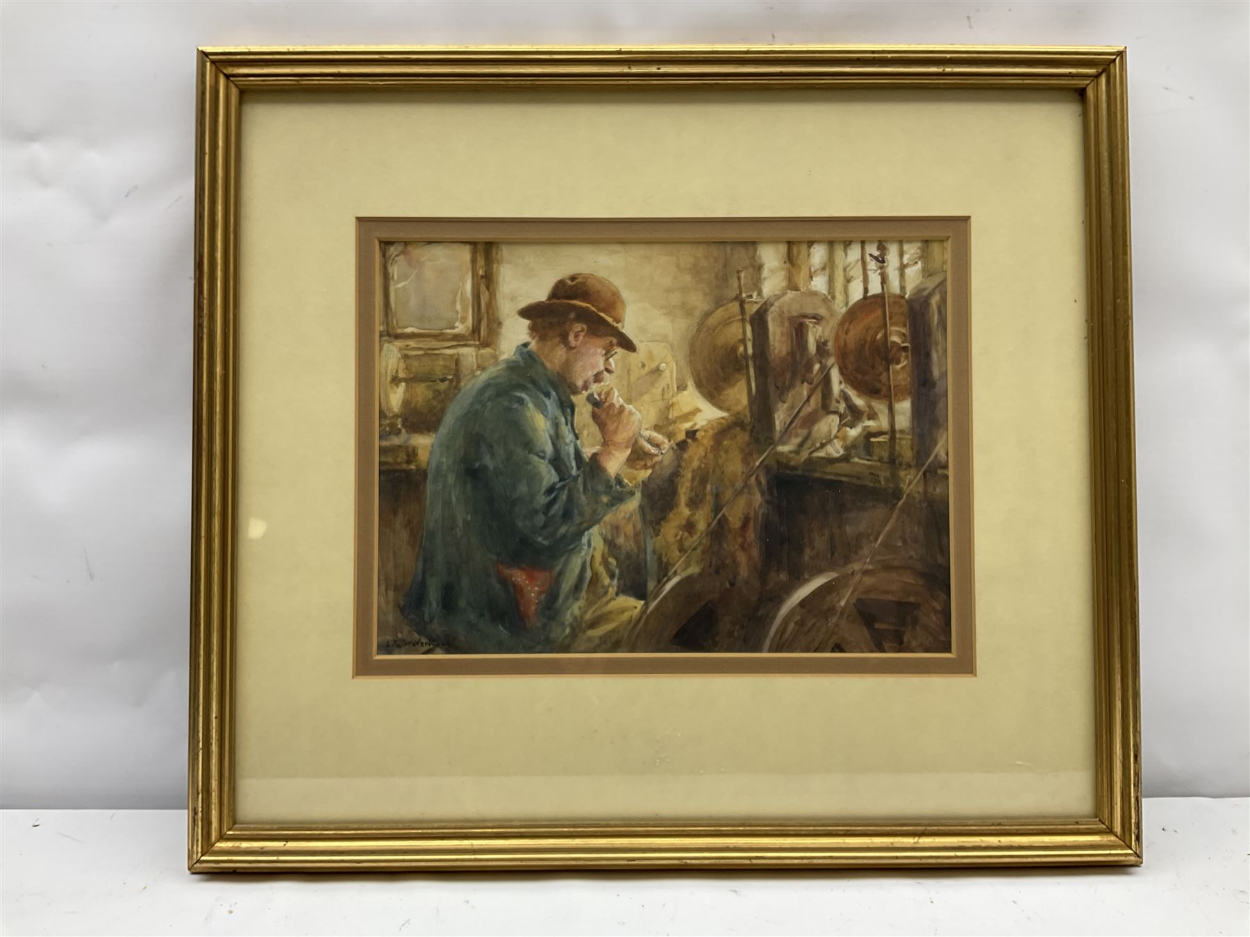 Albert George Stevens (Staithes Group 1863-1925): Whitby Jet Worker - Image 2 of 4