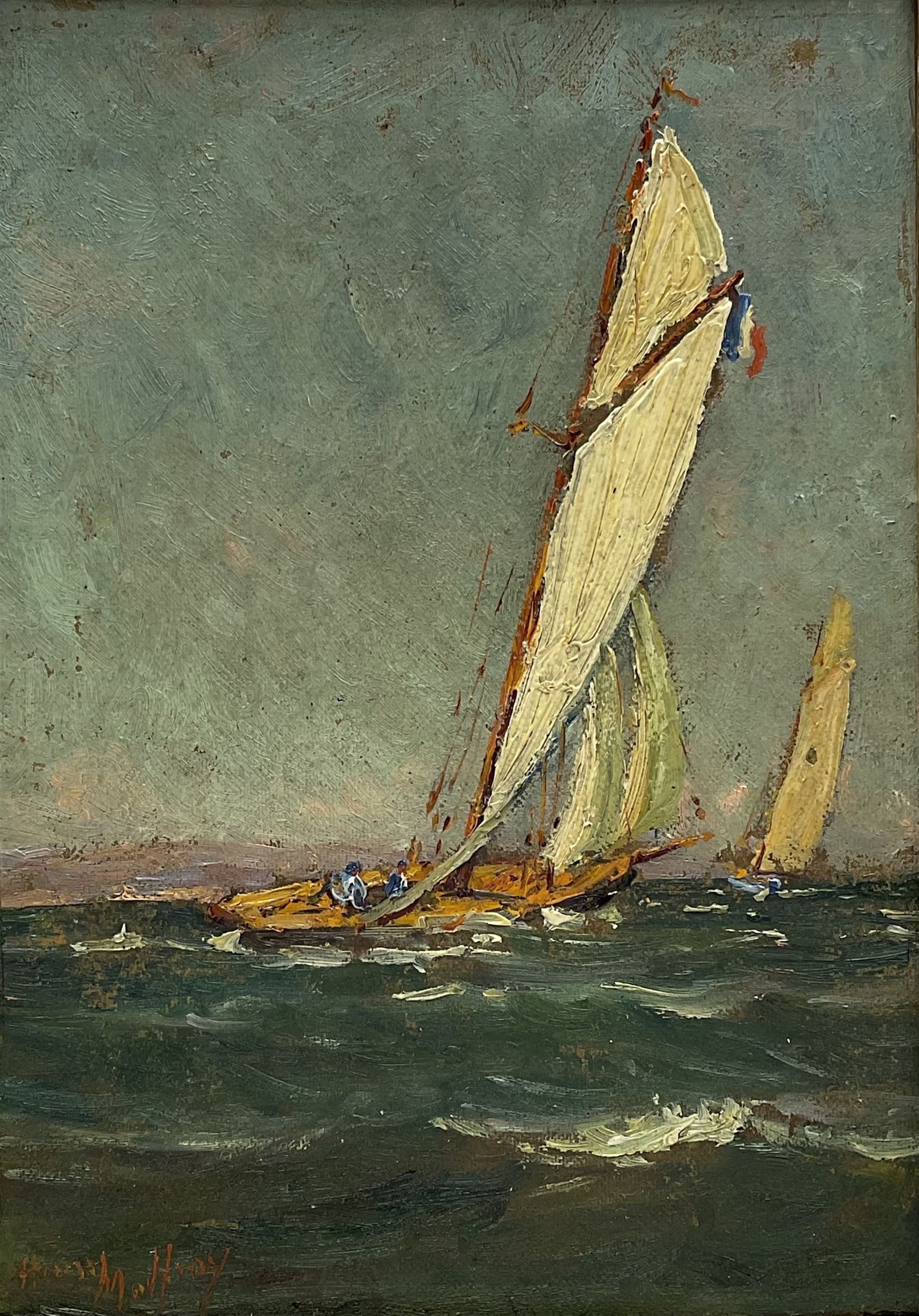 Henry Malfroy (French 1895-1944): Racing Yachts