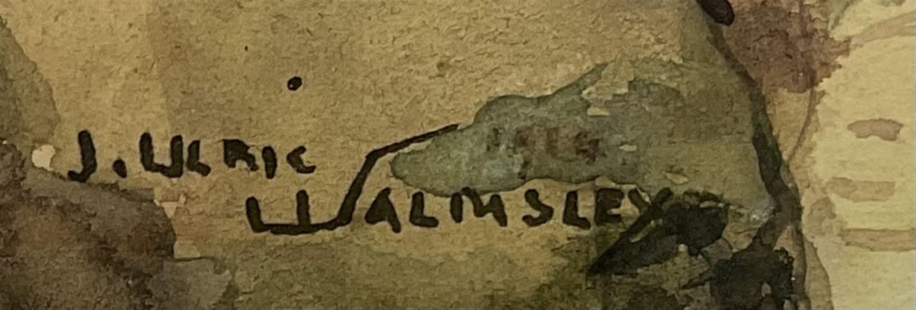 James Ulric Walmsley (British 1860-1954): Cliffs at Flamborough Head - Image 2 of 4