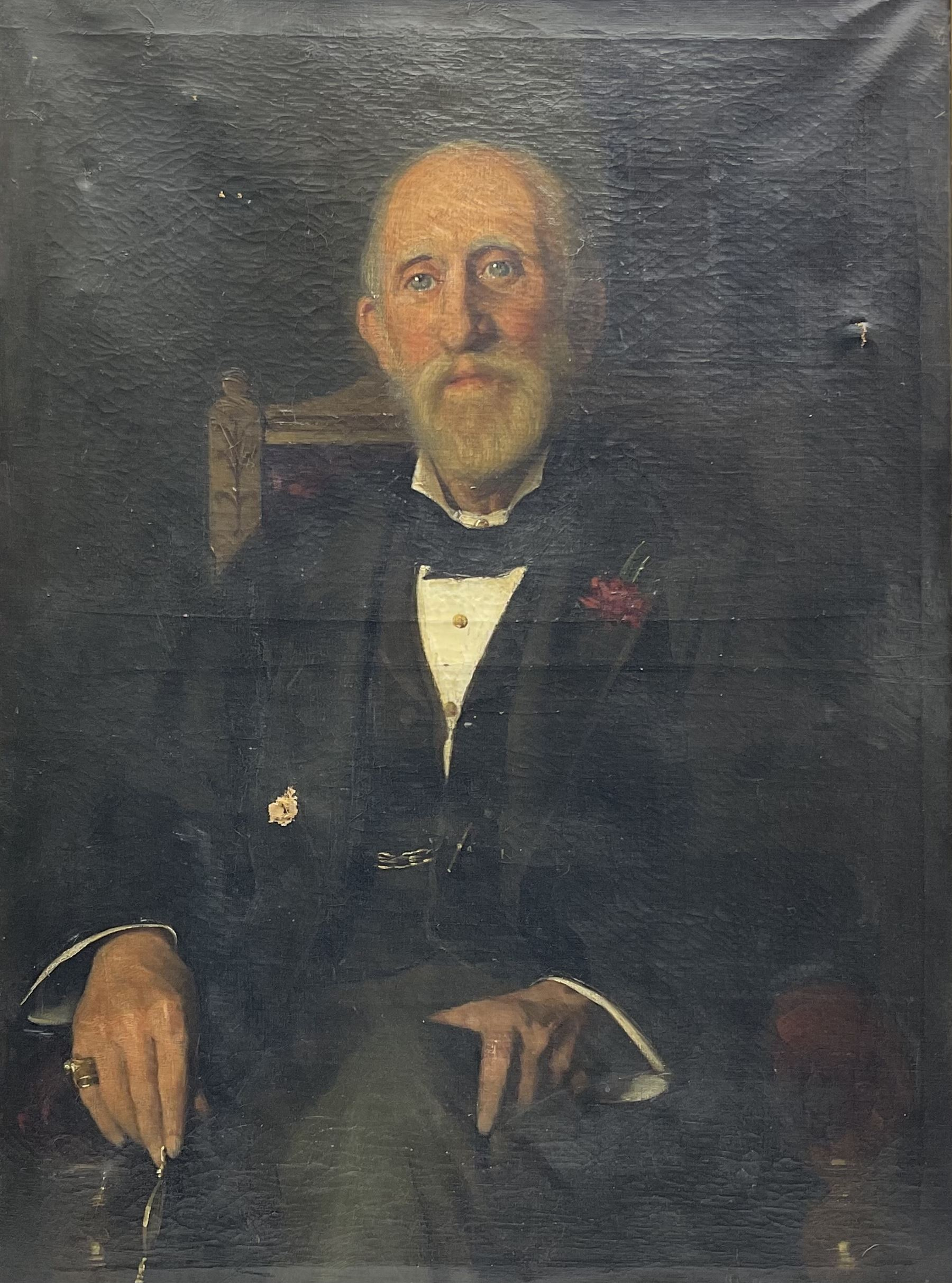 Frederick (Fred) William Elwell RA (British 1870-1958): Portrait of a seated Gentleman