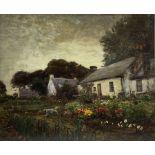 Alexander Brownlie Docharty (Scottish 1862-1940): Crofter's Garden