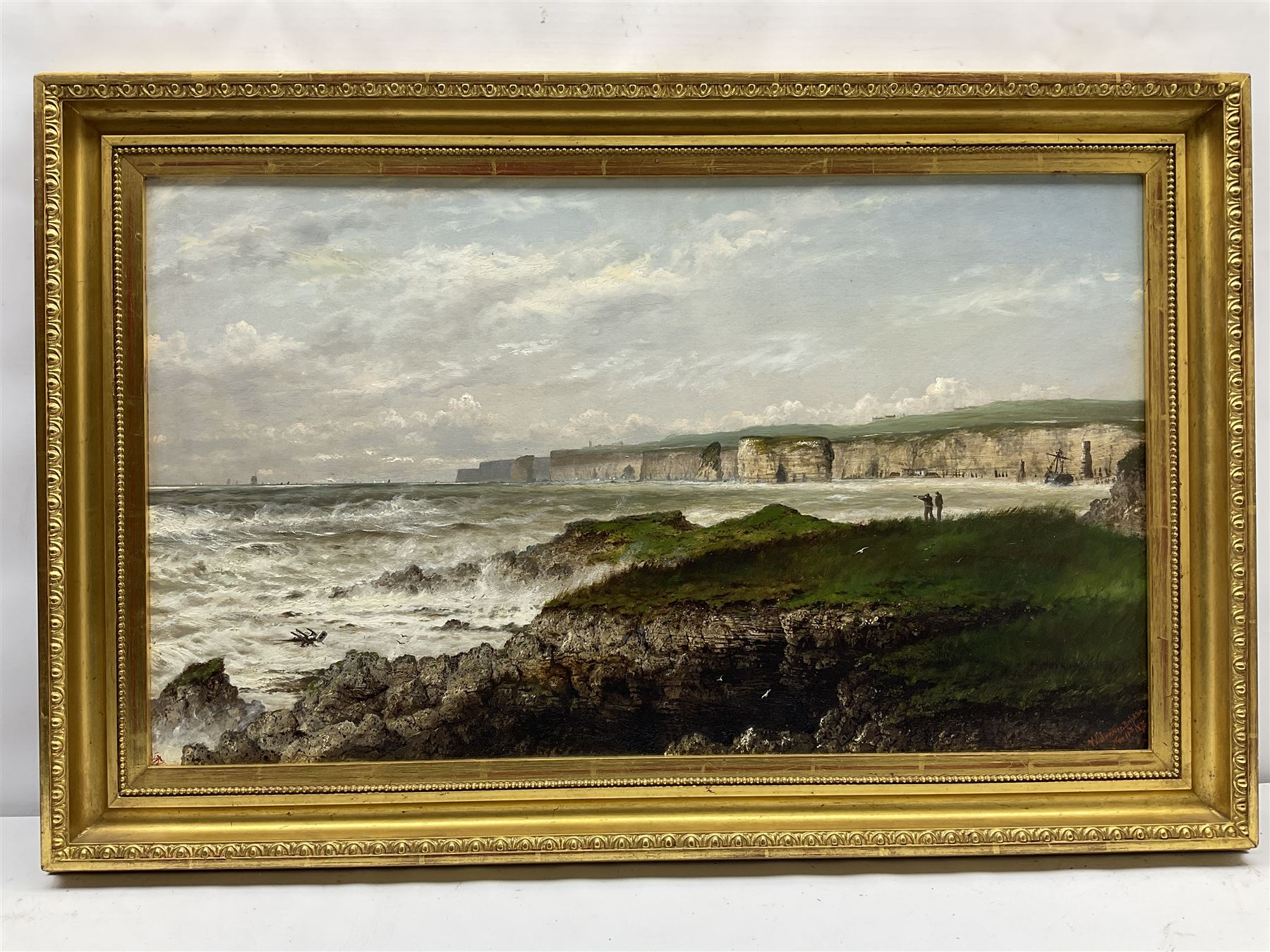 Isaac Walter Jenner (British 1836-1902): Bempton Cliffs and Flamborough Head - Image 2 of 4
