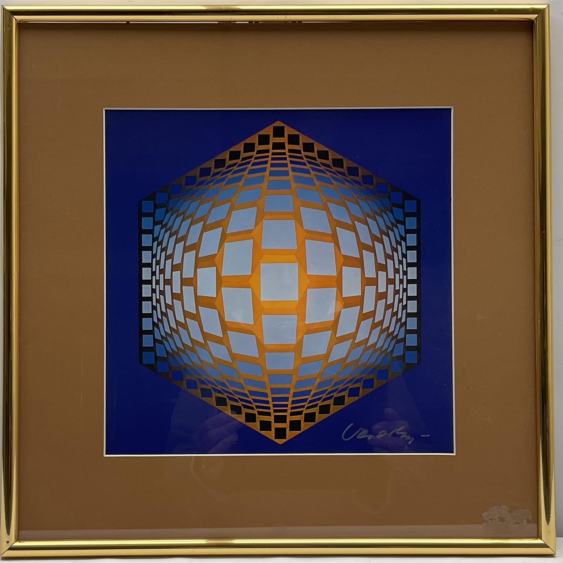 Victor Vasarely (Hungarian/French 1908-1997): 'Tegla-Hat' - Image 2 of 4