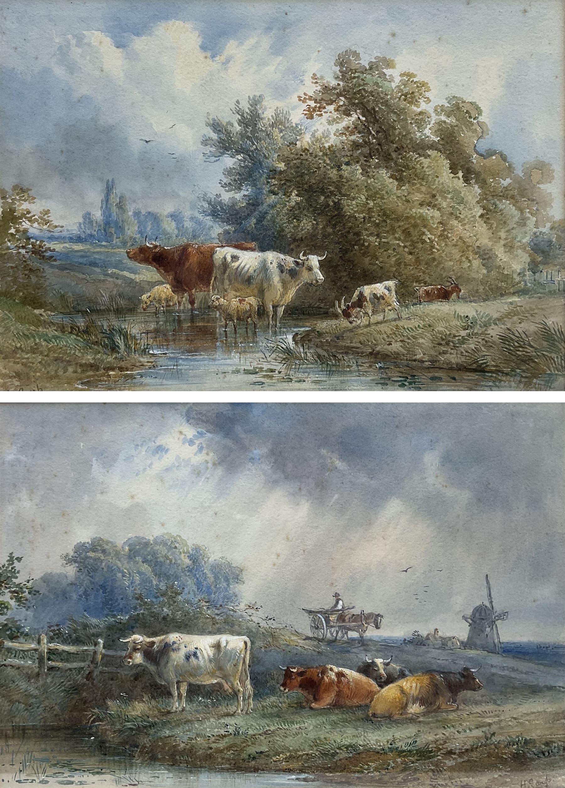 Henry Earp (British 1831-1914): Cattle Watering