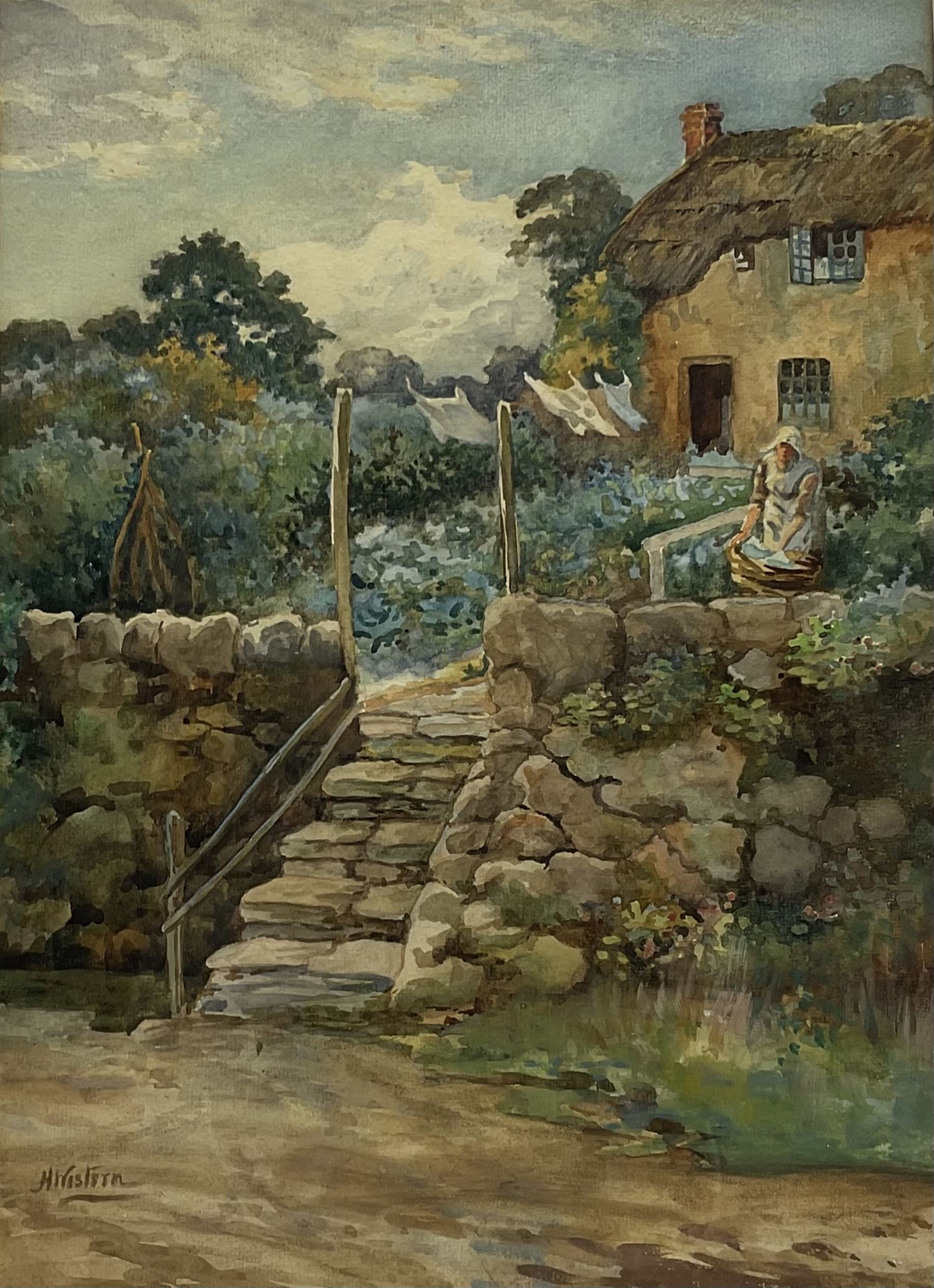 Henry Western (British 1877-?): 'Washing Day'