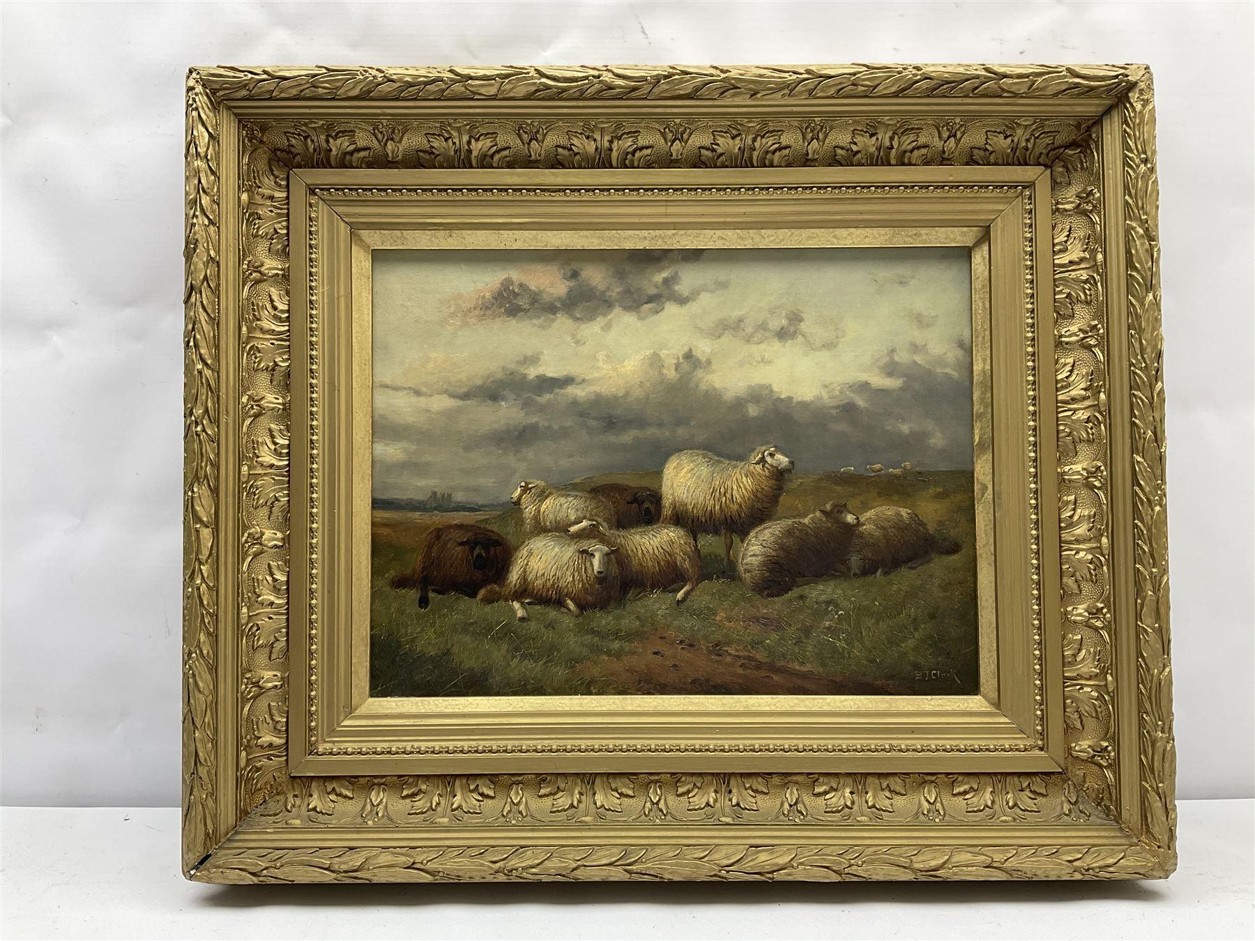 Samuel Joseph Clark (British 1834-1912): Sheep in Landscape - Image 2 of 4