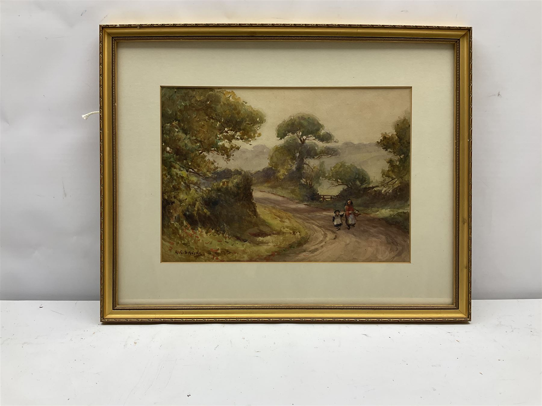 Albert George Stevens (Staithes Group 1863-1925): North Yorkshire Country Lane - Image 3 of 4