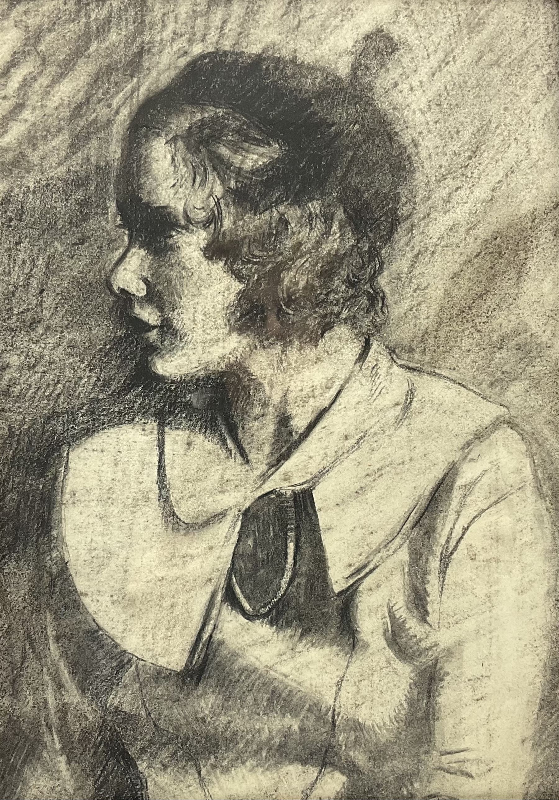 Attrib. Dame Laura Knight (British 1877-1970): Portrait of a Young Woman